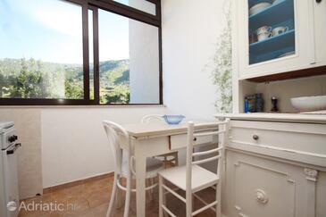 Komiža, Dining room in the apartment, dostupna klima, dopusteni kucni ljubimci i WIFI.