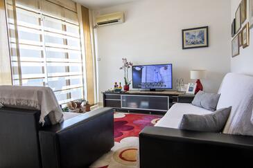 Vis, Obývací pokoj v ubytování typu apartment, s klimatizací a WiFi.