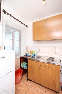 Mala Pogorila, Cocina in the studio-apartment, (pet friendly) y WiFi.