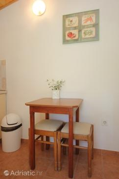 Srebreno, Dining room in the studio-apartment, dopusteni kucni ljubimci i WIFI.