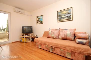 Mlini, Sala de estar in the apartment, air condition available y WiFi.