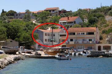 Sali, Dugi otok, Property 898 - Apartments by the sea.