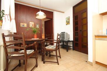 Cavtat, Jídelna v ubytování typu apartment, dopusteni kucni ljubimci i WIFI.