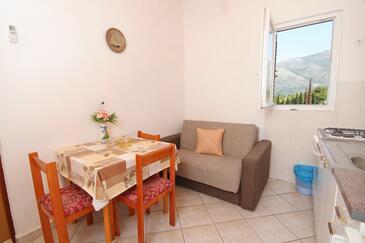 Cavtat, Jedáleň v ubytovacej jednotke apartment, klimatizácia k dispozícii, domáci miláčikovia povolení a WiFi.