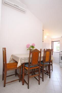 Cavtat, Jedáleň v ubytovacej jednotke apartment, dostupna klima, dopusteni kucni ljubimci i WIFI.