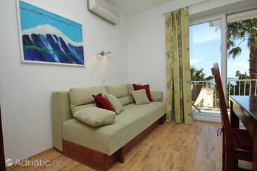 Mlini, Living room in the apartment, dostupna klima, dopusteni kucni ljubimci i WIFI.