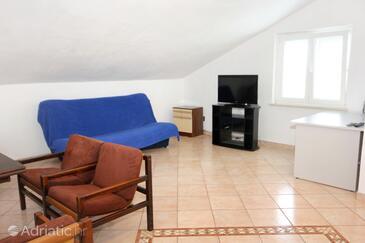 Mokošica, Living room in the apartment, dostupna klima, dopusteni kucni ljubimci i WIFI.
