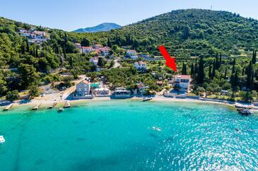 Slađenovići, Dubrovnik, Szálláshely 9012 - Apartmanok a tenger közelében kavicsos stranddal.