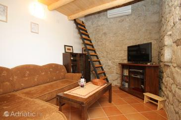 Mihanići, Living room in the house, air condition available, (pet friendly) and WiFi.