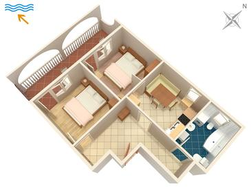 Marina, Grundriss in folgender Unterkunftsart apartment, WiFi.