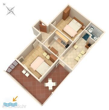 Marina, Plan in the apartment, WiFi.