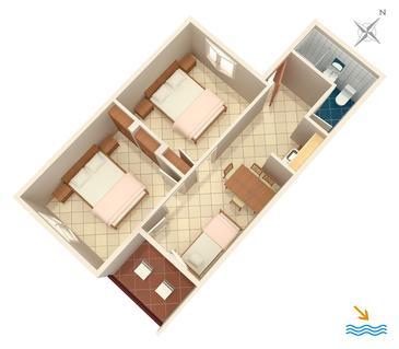 Zaglav, Plan in the apartment.