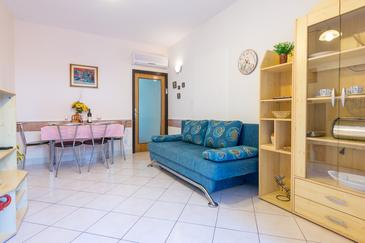 Dubrovnik, Living room in the apartment, air condition available, (pet friendly) and WiFi.