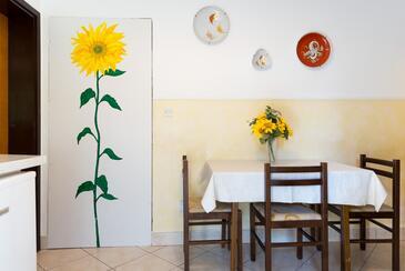 Dubrovnik, Jídelna v ubytování typu apartment, s klimatizací, domácí mazlíčci povoleni a WiFi.
