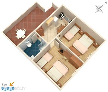 Savar, Plan in the apartment, dopusteni kucni ljubimci i WIFI.