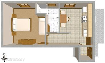 Sali, Plan in the apartment, (pet friendly) and WiFi.
