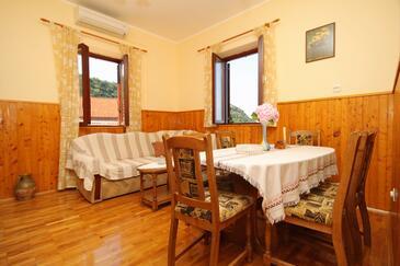 Dubravka, Obývacia izba v ubytovacej jednotke house, klimatizácia k dispozícii, domáci miláčikovia povolení a WiFi.