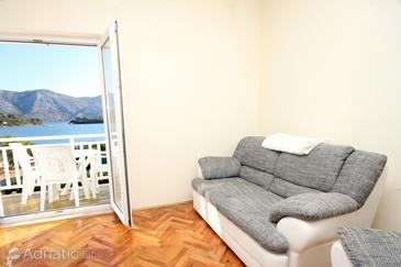 Kneža, Living room in the apartment, dostupna klima, dopusteni kucni ljubimci i WIFI.