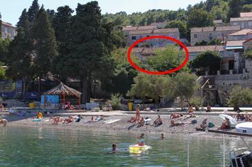 Korčula, Korčula, Objekt 9132 - Ubytovanie blízko mora s kamienkovou plážou.