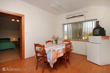 Zavalatica, Jedilnica v nastanitvi vrste apartment, dostopna klima in WiFi.