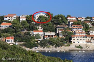 Zavalatica, Korčula, Hébergement 9144 - Appartement avec une plage de galets.