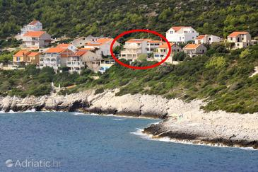 Zavalatica, Korčula, Property 9150 - Apartments near sea with rocky beach.