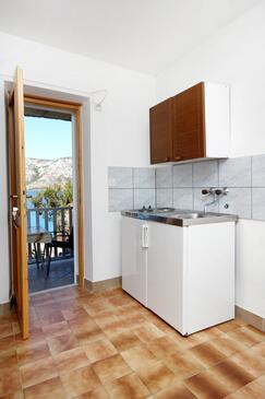 Kneža, Kuchyňa v ubytovacej jednotke studio-apartment, WIFI.