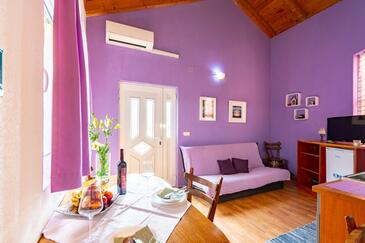 Kneža, Living room in the apartment, (pet friendly) and WiFi.