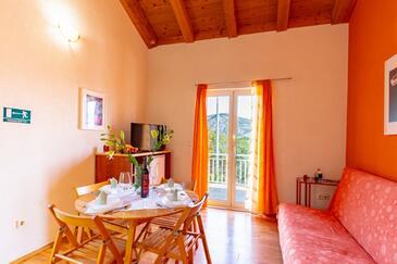 Kneža, Obývacia izba v ubytovacej jednotke apartment, dopusteni kucni ljubimci i WIFI.
