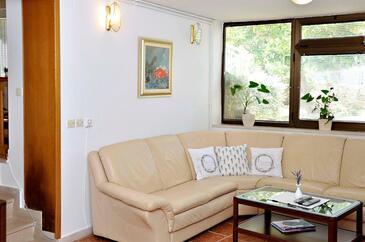 Lumbarda, Obývací pokoj v ubytování typu apartment, WiFi.