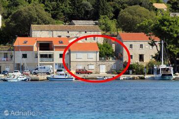 Lumbarda, Korčula, Objekt 9173 - Ubytování v blízkosti moře s oblázkovou pláží.