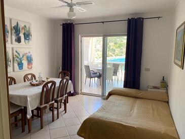 Mikulina Luka, Obývací pokoj v ubytování typu apartment, WiFi.