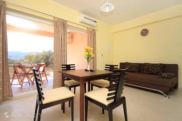 Vela Luka, Dining room in the apartment, dostupna klima i WIFI.