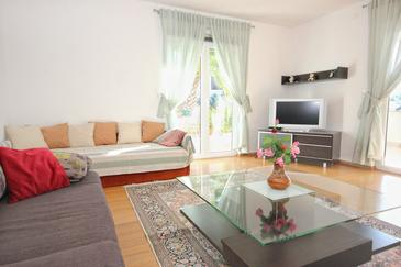 Mavarštica, Obývacia izba v ubytovacej jednotke house, dopusteni kucni ljubimci i WIFI.