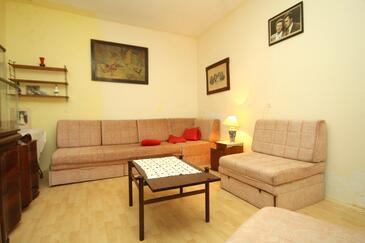 Žrnovo, Obývacia izba v ubytovacej jednotke house, WIFI.