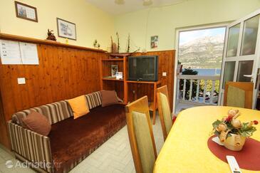 Medvinjak, Living room in the apartment, dopusteni kucni ljubimci i WIFI.