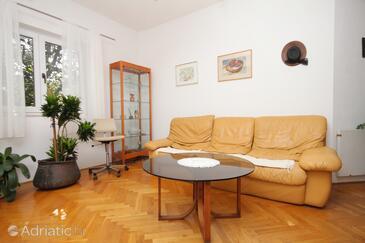 Korčula, Living room 1 in the apartment, dostupna klima, dopusteni kucni ljubimci i WIFI.