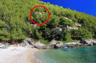 Bratinja Luka, Korčula, Szálláshely 9224 - Nyaralóház a tenger közelében kavicsos stranddal.