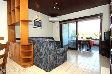 Žrnovska Banja, Living room in the apartment, dostupna klima, dopusteni kucni ljubimci i WIFI.