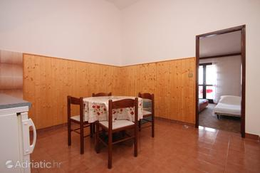 Prižba, Dining room in the apartment, air condition available, (pet friendly) and WiFi.