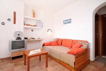 Prižba, Obývací pokoj v ubytování typu apartment, WIFI.