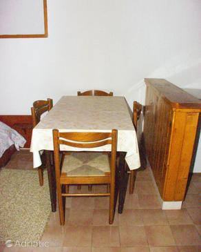 Postira, Dining room in the studio-apartment, (pet friendly) and WiFi.