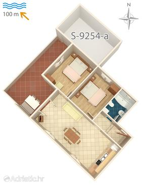 Ražanj, Plan in the apartment, dopusteni kucni ljubimci.