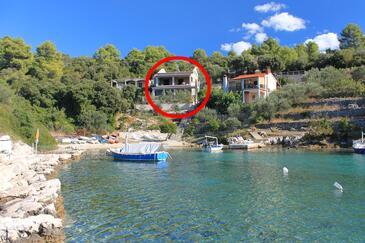Stratinčica, Korčula, Hébergement 9264 - Appartement à proximité de la mer avec une plage de galets.