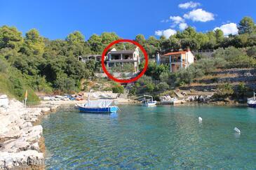 Stratinčica, Korčula, Alloggio 9264 - Appartamenti affitto vicino al mare con la spiaggia rocciosa.