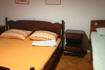 Korčula, Ložnice v ubytování typu room, s klimatizací, domácí mazlíčci povoleni a WiFi.