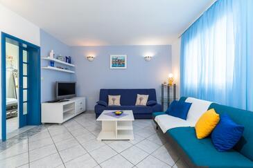 Gradina, Obývacia izba v ubytovacej jednotke apartment, WIFI.