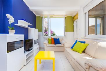 Zavalatica, Living room in the apartment, dopusteni kucni ljubimci i WIFI.