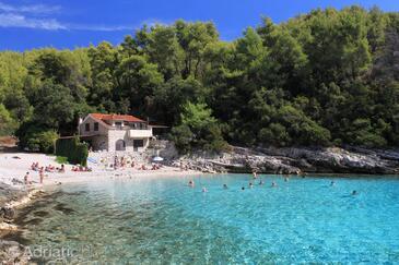 Zavalatica, Korčula, Objekt 9294 - Apartmani blizu mora sa šljunčanom plažom.