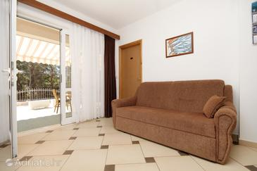 Lumbarda, Living room in the apartment, dopusteni kucni ljubimci i WIFI.